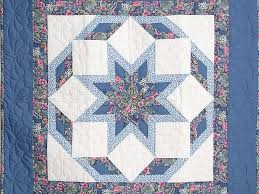 Wagon Wheel Quilt -- great specially made Amish Quilts from ... & ... Blue Wagon Wheel Wall Hanging Photo 2 ... Adamdwight.com