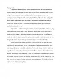teenage curfew research paper similar essays