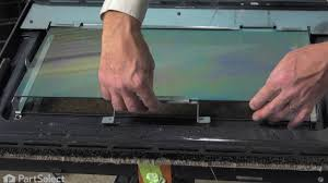 oven repair replacing the inner door glass whirlpool part wp4449263