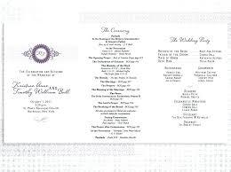 Wedding Program Designs Episcopal Wedding Program Examples Of Programs Also On Sample Front