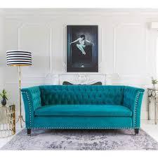 teal blue furniture. Teal Color Furniture. Blue Velvethairs For Sale Midentury Modern Aqua Sofa Set Studded Back Furniture