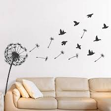 Small Picture Dandelion Birds Vinyl Wall Sticker Picture Design Pinterest