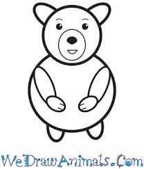 Learn how to draw simple for kids pictures using these outlines or print just for coloring. How To Draw A Simple Bear For Kids
