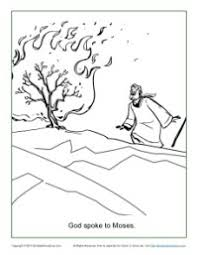 Small Picture and the Burning Bush Coloring Page