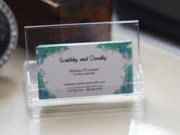 business card holder desk ideas