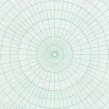 Individual Graph Paper Blank Polar Coordinate Graph Showing Individual Degrees