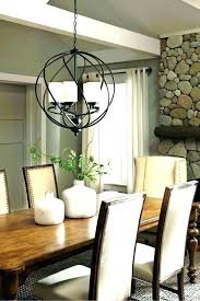 unique dining room chandelier size and rectangular of for table calculator living siz