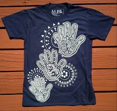 new dot painting t shirt design by 2 flags