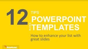 16 9 Template 12 Tips List Powerpoint Templates Slidemodel