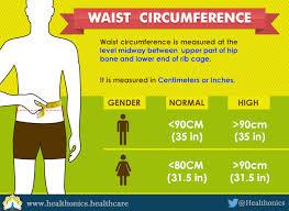 Waist Circumference Chart Whats My Ideal Weight Healthonics