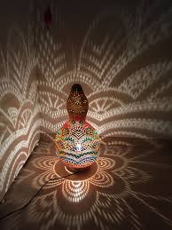 bohemian lighting. Big Shiny Colorful Turkish Gourd Lamp #gourdlamp #turkish #handmade #lamps # Bohemian Lighting S
