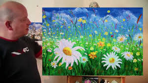 the daisy field acrylic painting by steve buchanan