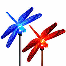 dragonfly garden stakes. Solar Dragonfly Garden Stake Lights Color Changing Dragonflies (2 Pack) Stakes T