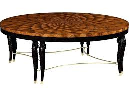 hand carved coffee table medium feather inlay hand carved coffee table with brass stretcher sherlyn handcrafted hand carved coffee table