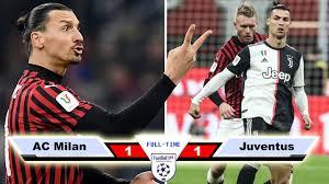 AC Milan vs Juventus 1-1 - Goals & Highlights - 2020 - YouTube