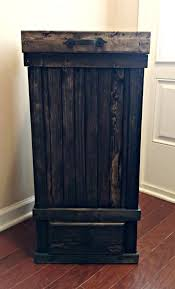 state drawer kitchen trash can country kitchen trash can farmhouse kitchen decor 13 gallon wood trash