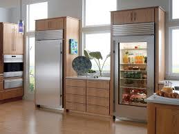 subzero 36 built in glass door refrigerator