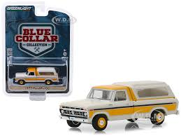 1977 Ford F-100 Pickup Truck Camper Shell Cream Orange Blue ...