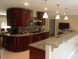 Cherry Cabinets In Kitchen Kitchen Backsplash Ideas With Cherry Cabinets Fireplace