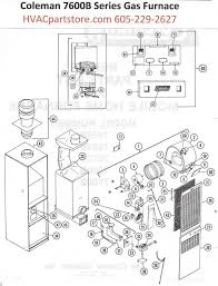 7680b856 coleman gas furnace parts hvacpartstore click here to view a manual for the coleman 7680b856 which includes wiring diagrams