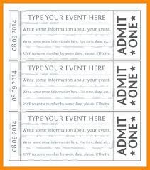 Admit One Ticket Template Free Beauteous Simple Raffle Ticket Template Word Movie Admit One Free Printable