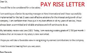 Request For Pay Raise Pay Rise Letter