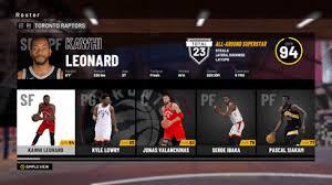 Nba 2k17 Depth Chart Nba 2k19 Toronto Raptors Player Ratings And Roster Realsport