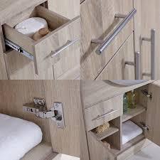 Sink And Toilet Combo 1340mm Basin And Toilet Vanity Unit Oak Combination Bathroom