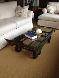 Industrial Fan Coffee Table 100 Recycled Coffee Table Antique Hand Truck Dolly With A