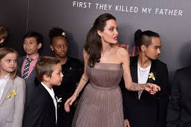 angelina jolie accompanied by kids at first they killed my father  related gallery the sweetest photos of angelina jolie her kids this week from toronto to telluride