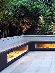 bench lighting. Town Garden Unique Custom Made Aperture Bench With Warm Lighting