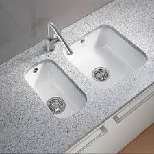 white undermount kitchen sink undermount sink vs overmount double basin porcelain design granite