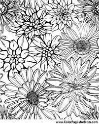 Flower Coloring Page 79 Coloring Therapy Coloring Pages Adult