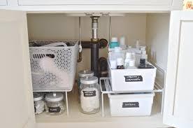 bathroom under sink storage ideas. Ideas For Wrangling All That Clutter Underneath Your Bathroom Sink. Under Sink Storage R
