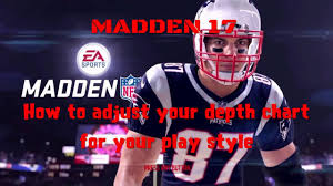How To Move Up The Depth Chart In Madden 13 Madden 17 Adjust Your Depth Chart For Your Play Style