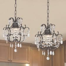 gallery versailles wrought iron and crystal mini chandelier 2 in 1 in crystal mini chandelier