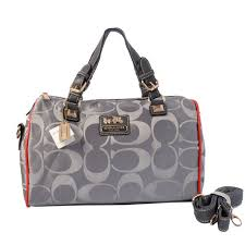 Coach In Signature Medium Grey Luggage Bags AYE