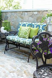outdoor glider bench makeover with new cushion covers from confessions of a serial do it