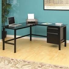 glass desk for office. nebraska furniture mart u2013 studio rta raised glass top lshaped desk for office