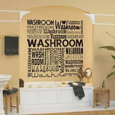 bahtroom artistic wall decorations for bathrooms designed creative wall decorations for bathrooms with pastel wall paint and plant decor beside square