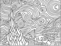 Small Picture Coloring Pages Van Gogh Coloring Pages Starry Night
