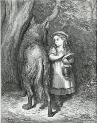 the red list doratildecopy gustave illustration etchinggustave doratildecopy little red riding hood from the fairy