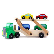 wooden tractor toy wooden toys for children transport trucks tractor toy double layer model of the wooden tractor toy