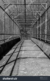 Steel Walkway Design Steel Gate Walkway Walkway Bridge Industrial Stock Photo