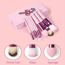 s cute o kitty makeup brushes set pink box make up brush set makeup tools maquiagem brush kit bridal makeup eye makeup from ykc998