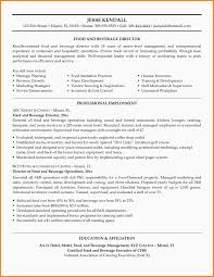 Food And Beverage Manager Cv Examples Ats Resume Samples Templates
