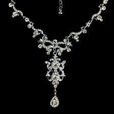 chandelier bridal necklace swarovski crystal jewelry armani
