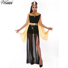 Deluxe Egyptian Queen Of The Pyramids Cleopatra Dress Adult Womenu0027s Egyptian  Goddess Costume Halloween Cosplay Party Dress