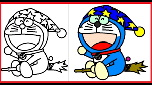 Doraemon is a japanese show featuring a robot cat from the future. Doraemon Coloring Pages Doraemon Colouring Book Colors Videos For Kids Art Coloring Games 3 Youtube