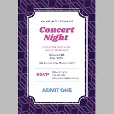 Concert Ticket Invitations Template Inspiration Ticket Invitation Template 48 Free PSD Vector EPS AI Format